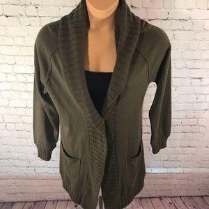 Rachel Roy Cardigan Sweater Green Size Medium